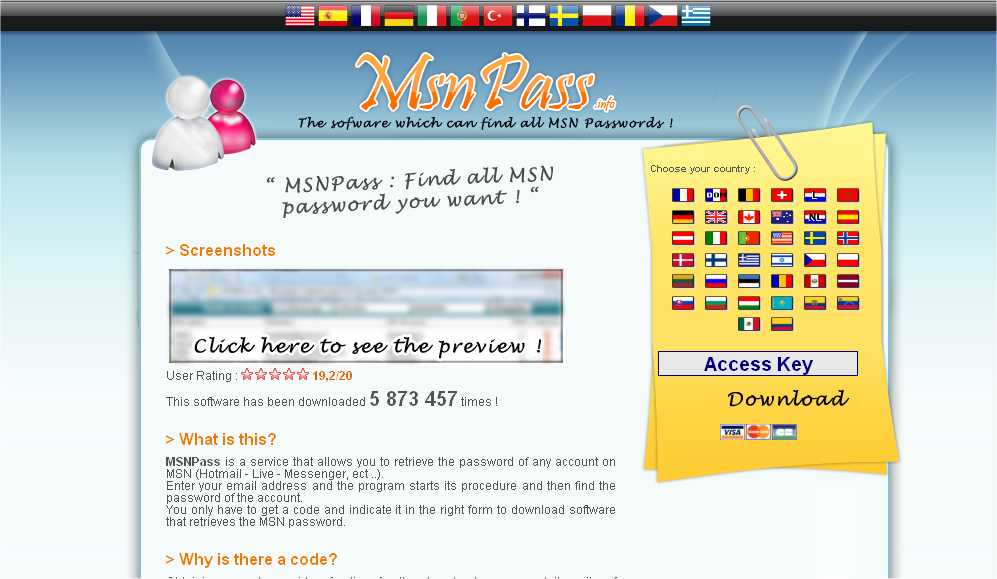 MsnPass.Info Scam In English