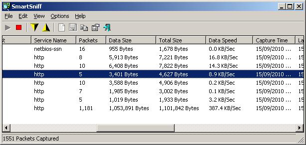 sniffer_statistics