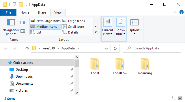 Windows Explorer Folder Medium Icons