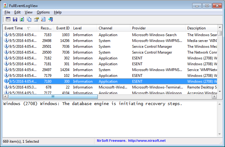 NirBlog » Blog Archive » New event log utilities for Windows